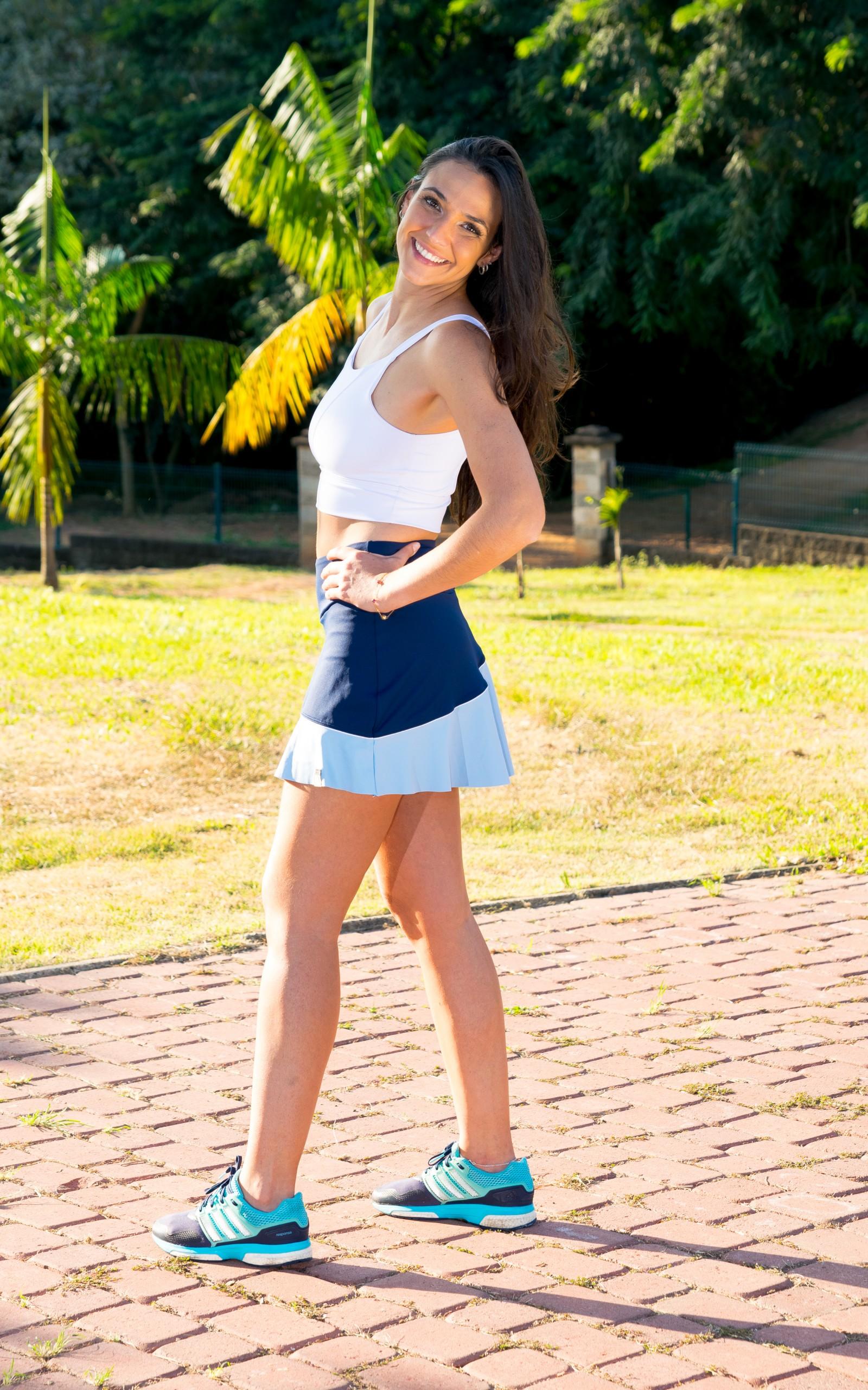 Croopped Alluring Branco, Coleção YOURSELF - NKT Fitwear Moda Fitness