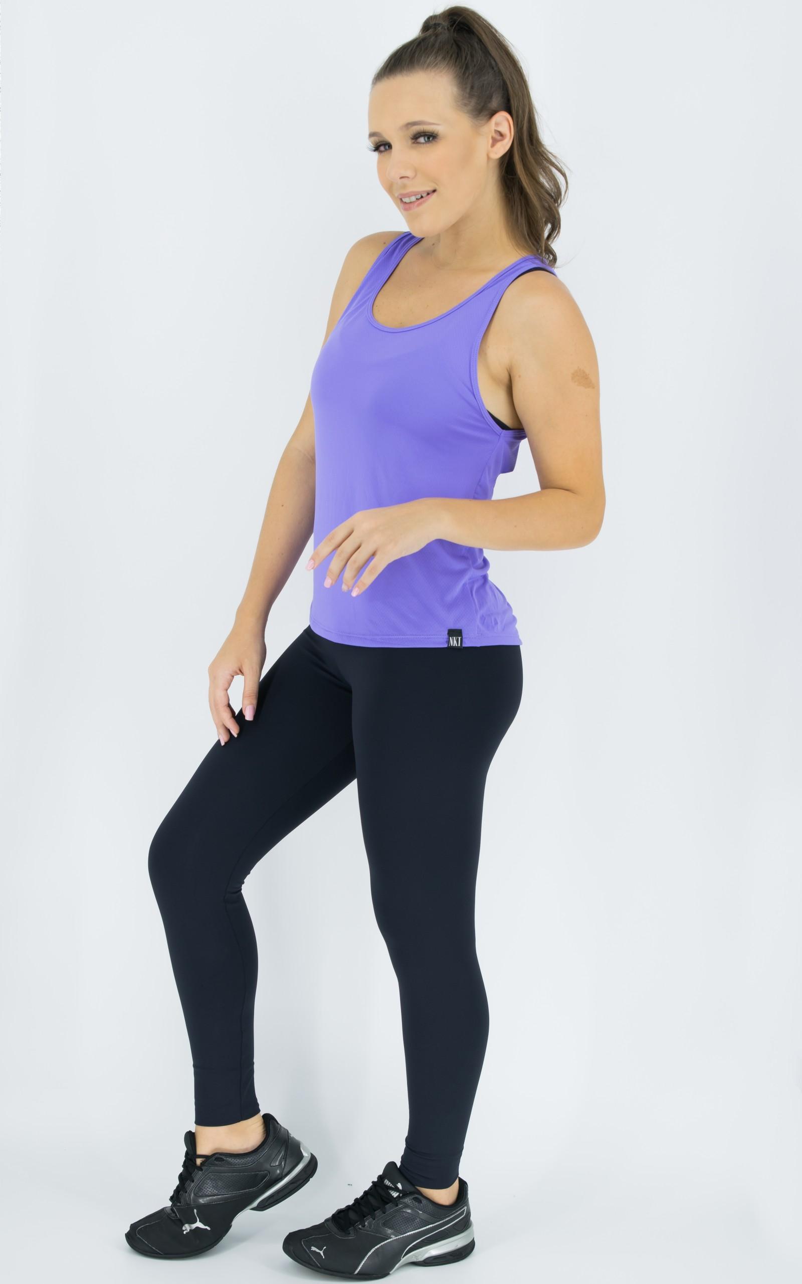 Regata Lux Lilás, Coleção Move Your Body - NKT Fitwear Moda Fitness