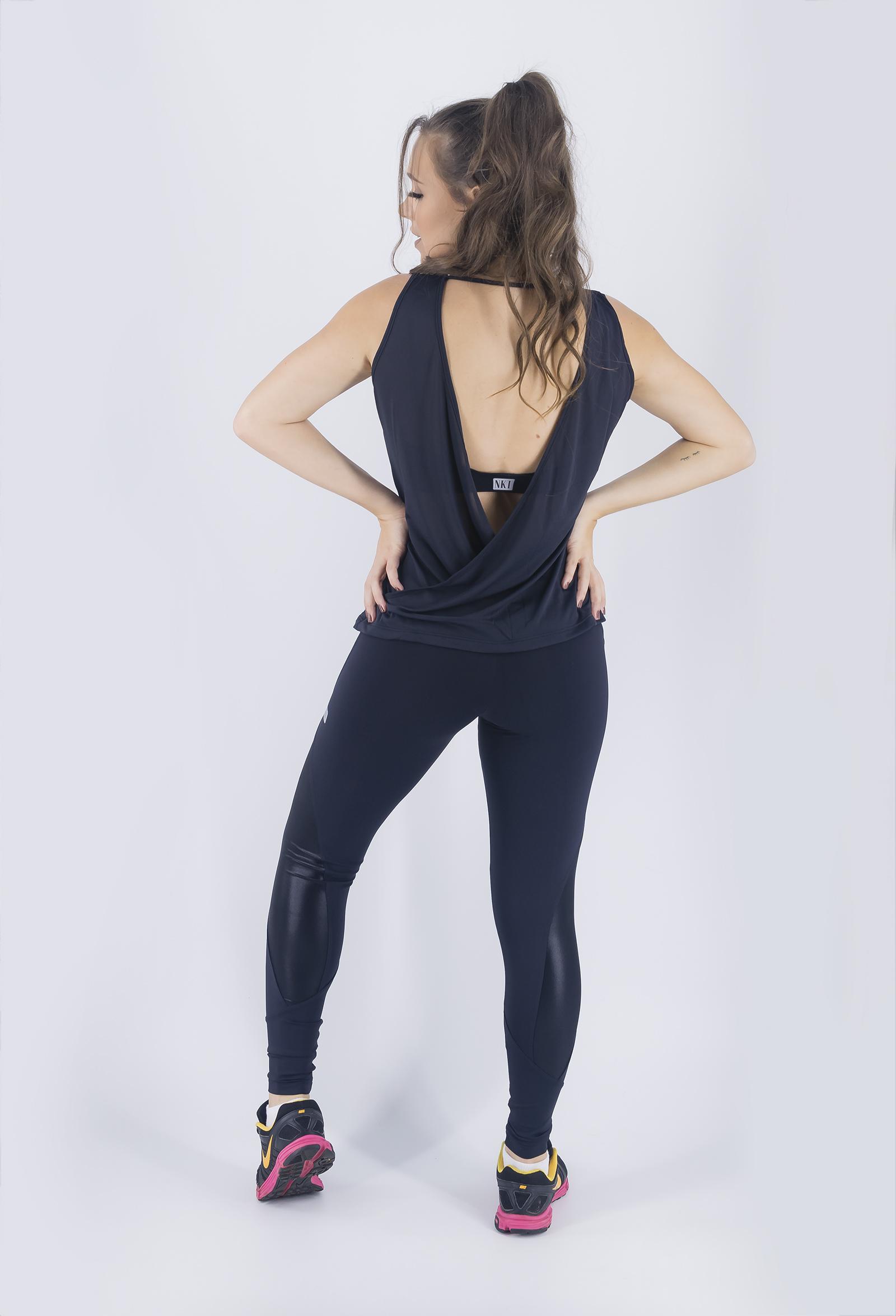 Legging Freedom Preta, Coleção Just For You - NKT Fitwear Moda Fitness