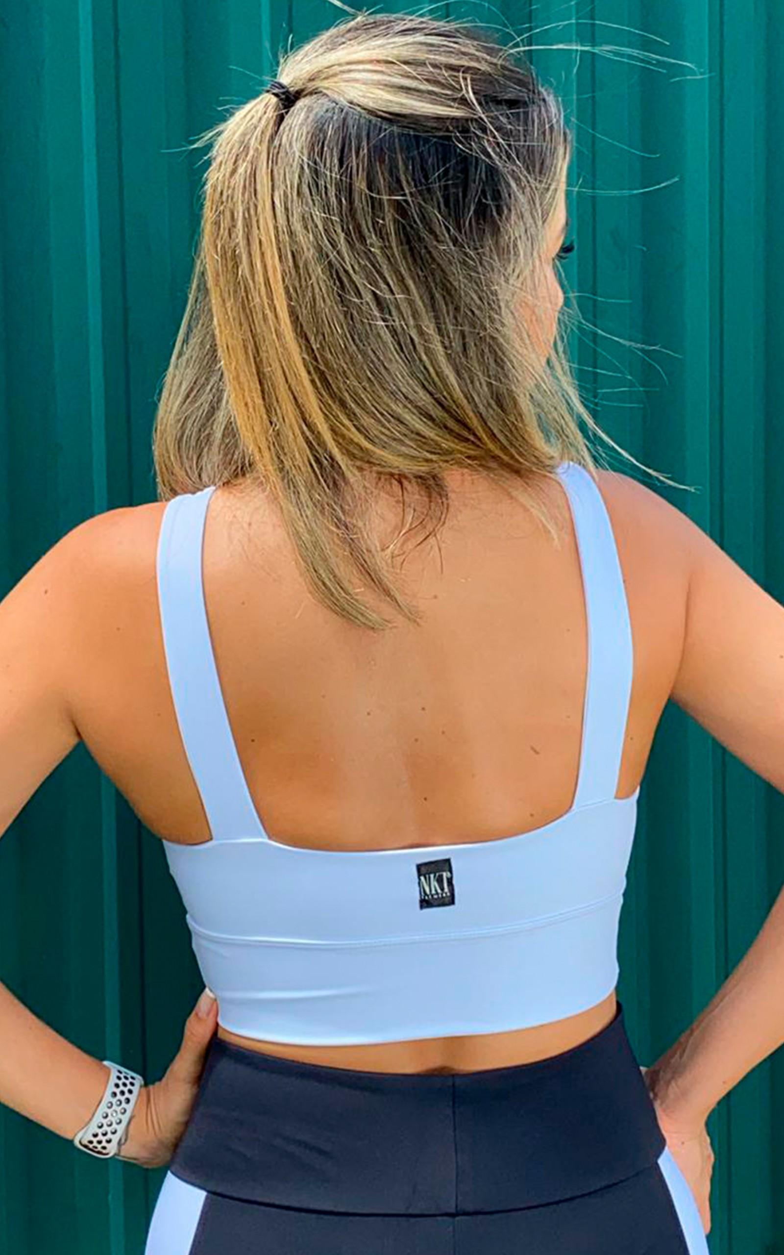 Cropped Anatomic Branco, Coleção YOURSELF - NKT Fitwear Moda Fitness