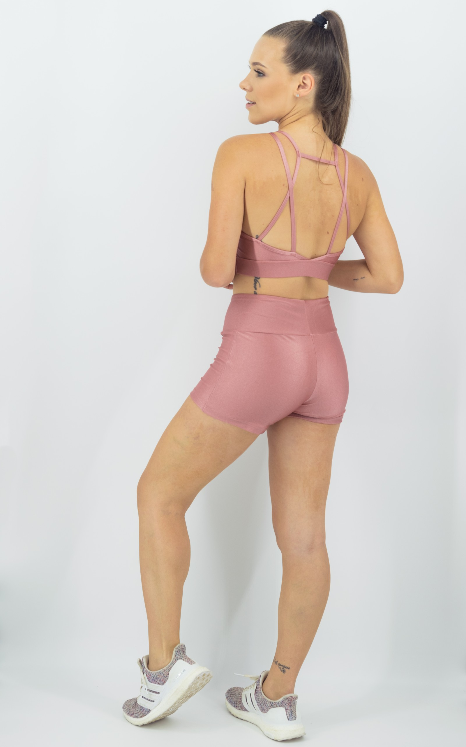 Shorts Confort Plus Rosa Boca, Coleção Move Your Body - NKT Fitwear Moda Fitness