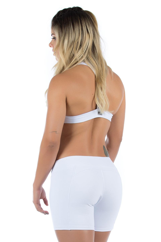 Shorts NKT Branco, Coleção Mulheres Reais - NKT Fitwear Moda Fitness